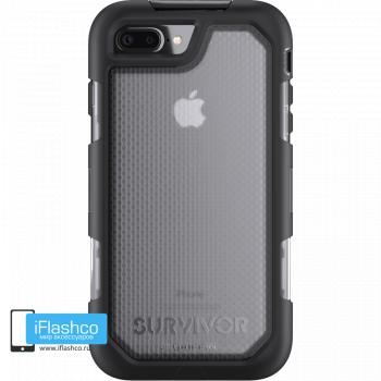 Чехол Griffin Survivor Summit (Extreme) для iPhone 7 Plus / 8 Plus черный прозрачный