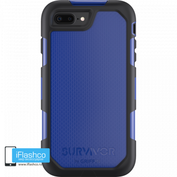 Чехол Griffin Survivor Summit (Extreme) для iPhone 7 Plus / 8 Plus черный с синим