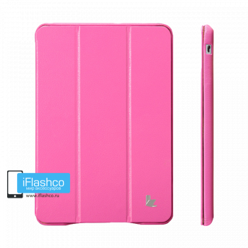 Чехол Jisoncase для iPad mini 1 / 2 / 3 малиновый