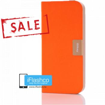 Чехол-книжка iSikey для iPhone 5 / 5S / SE оранжевая