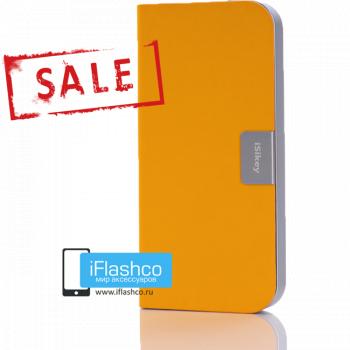 Чехол-книжка iSikey для iPhone 5 / 5S / SE желтая