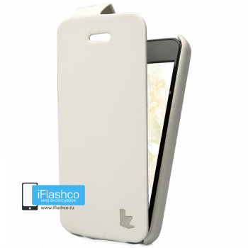 Чехол-книжка Jisoncase Fashion Flip для iPhone 5C белая