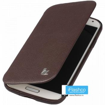 Чехол-книжка Jisoncase Fashion Folio Case для Samsung Galaxy S4 коричневая