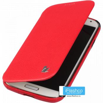 Чехол-книжка Jisoncase Fashion Folio Case для Samsung Galaxy S4 красная