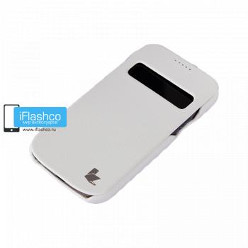 Чехол-книжка Jisoncase Fashion Folio Case для Samsung Galaxy S4 mini белая