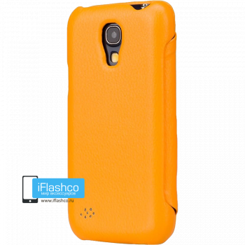 Чехол-книжка Jisoncase Fashion Folio Case для Samsung Galaxy S4 mini оранжевая