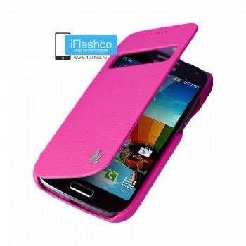 Чехол-книжка Jisoncase Fashion Folio Case для Samsung Galaxy S4 mini розовая