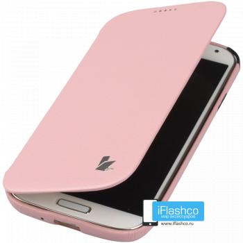 Чехол-книжка Jisoncase Fashion Folio Case для Samsung Galaxy S4 розовая