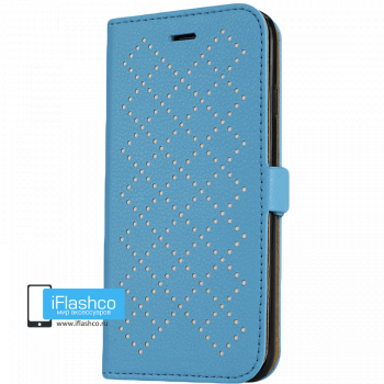 Чехол-книжка Jisoncase Fashion Wallet для iPhone 6 голубая