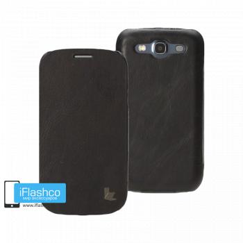 Чехол-книжка Jisoncase Genuine Leather Folio Case для Samsung Galaxy S3 черная