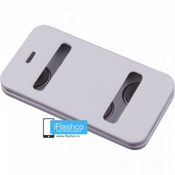 Чехол-книжка Jisoncase Magic Case для iPhone 4 / 4S белая