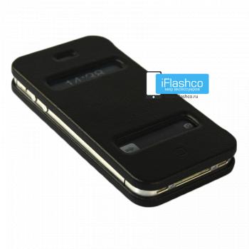 Чехол-книжка Jisoncase Magic Case для iPhone 4 / 4S черная