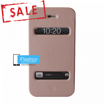 Чехол-книжка Jisoncase Magic Case для iPhone 4 / 4S розовая
