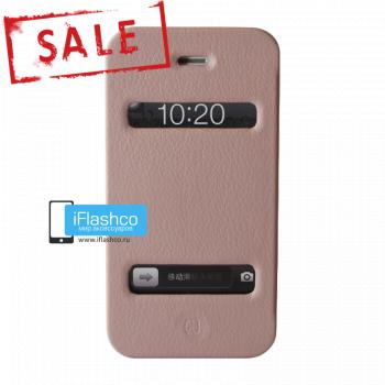 Чехол-книжка Jisoncase Magic Case для iPhone 4 / 4S розовая