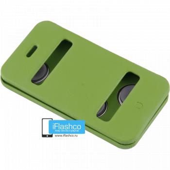 Чехол-книжка Jisoncase Magic Case для iPhone 4 / 4S зеленая