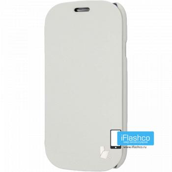 Чехол-книжка Jisoncase Microfiber Folio Case для Samsung Galaxy S3 белая