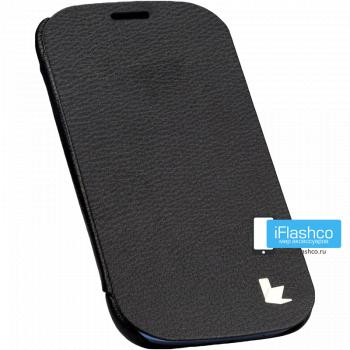 Чехол-книжка Jisoncase Microfiber Folio Case для Samsung Galaxy S3 черная