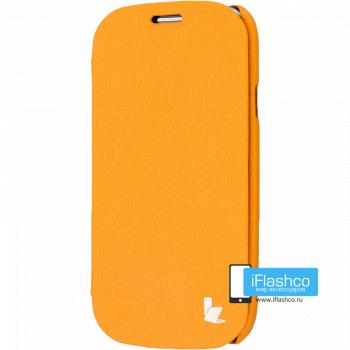 Чехол-книжка Jisoncase Microfiber Folio Case для Samsung Galaxy S3 оранжевая