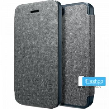Чехол-книжка Spigen Ultra Flip для iPhone 4 / 4S черная