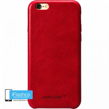 Чехол кожаный Jisoncase Genuine Leather Fit для iPhone 6 / 6s красный