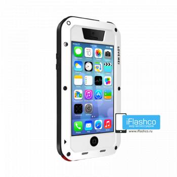 Чехол Love Mei Powerful для iPhone 5c белый с черным