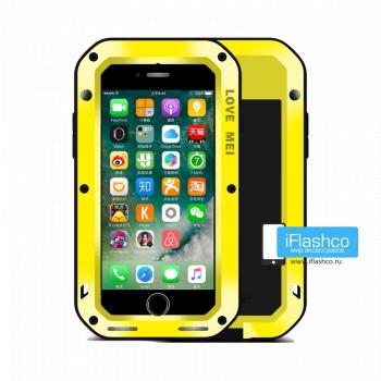 Чехол Love Mei Powerful для iPhone 7/8/SE желтый
