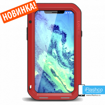 Чехол Love Mei Powerful для iPhone X/Xs красный