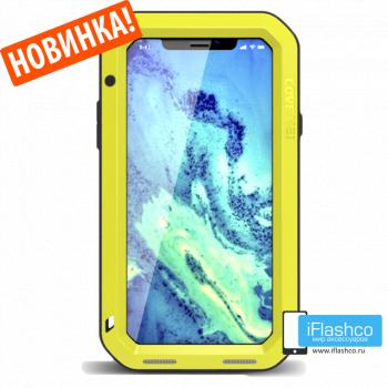 Чехол Love Mei Powerful для iPhone X/Xs желтый