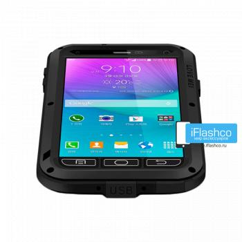 Чехол Love Mei Powerful для Samsung Galaxy Note 4 Black черный