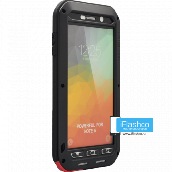 Чехол Love Mei Powerful для Samsung Galaxy Note 5 Black черный