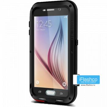 Чехол Love Mei Powerful для Samsung Galaxy S6 Black черный