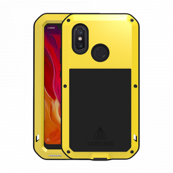 Чехол Love Mei Powerful для Xiaomi Mi 8 Yellow