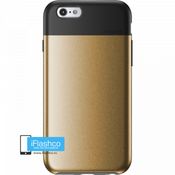 Чехол Lunatik Flak iPhone 6/6s Black Gold золотой