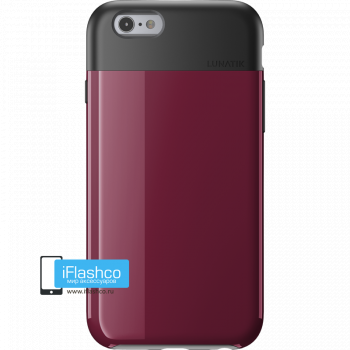 Чехол Lunatik Flak iPhone 6/6s Dark Raspberry темно-малиновый