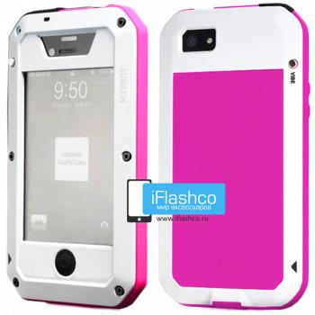 Чехол Lunatik Taktik Extreme iPhone 4 / 4S белый с розовым