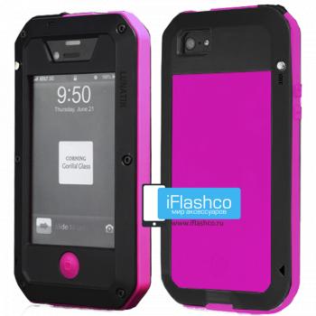 Чехол Lunatik Taktik Extreme iPhone 4 / 4S черный с розовым
