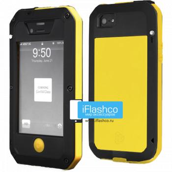 Чехол Lunatik Taktik Extreme iPhone 4 / 4S черный с желтым
