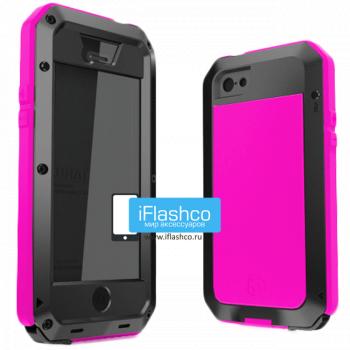 Чехол Lunatik Taktik Extreme iPhone 5 / 5S / SE черный с розовым