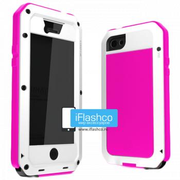 Чехол Lunatik Taktik Extreme iPhone 5C белый с розовым
