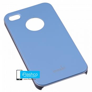 Чехол Moshi iGlaze Slim Case для iPhone 4 / 4S голубой