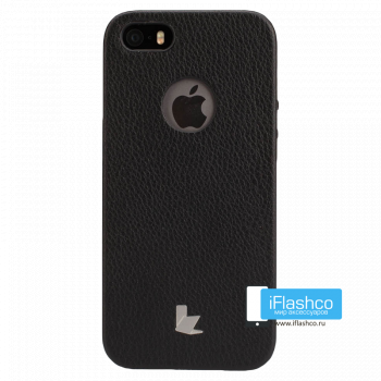 Чехол-накладка Jisoncase Fashion Back Case для iPhone 5 / 5S / SE черная