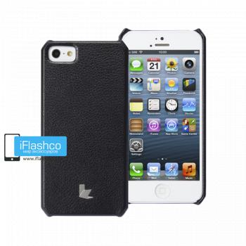 Чехол-накладка Jisoncase Fashion Wallet для iPhone 5 / 5S / SE черная