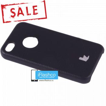 Чехол-накладка Jisoncase Slim Fit для iPhone 4 / 4S черная