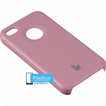Чехол-накладка Jisoncase Slim Fit для iPhone 4 / 4S розовая