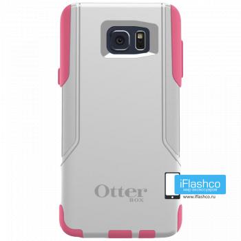 Чехол OtterBox Commuter для Samsung Galaxy Note 5 Hibiscus Frost серый с розовым