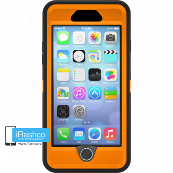 Чехол OtterBox Defender для iPhone 6 Plus / 6s Plus Black / Blaze Orange черный с оранжевым