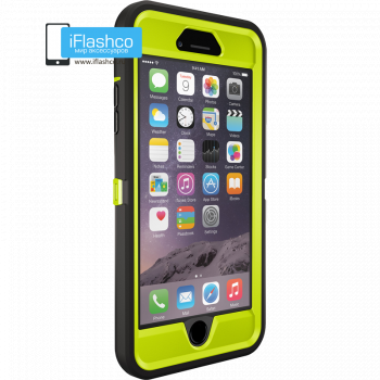 Чехол OtterBox Defender для iPhone 6 Plus / 6s Plus Citron Green/Black черный с салатовым
