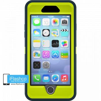 Чехол OtterBox Defender для iPhone 6 Plus / 6s Plus Dark Jade / Citron Green темно-синий с салатовым