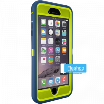 Чехол OtterBox Defender для iPhone 6 Plus / 6s Plus Electric Indigo синий с салатовым