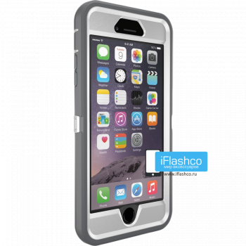 Чехол OtterBox Defender для iPhone 6 Plus / 6s Plus Glacier серый